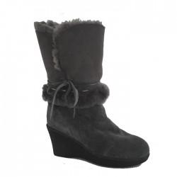 New Zealand Boots Wedge dark grey