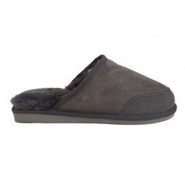 New Zealand Boots Mens open slipper dark grey