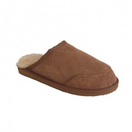 New Zealand Boots Mens open slipper cognac