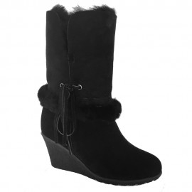 New Zealand Boots Wedge Black