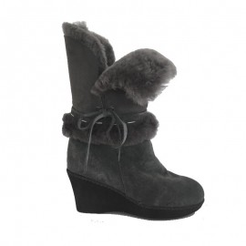 New Zealand Boots Wedge dark grey