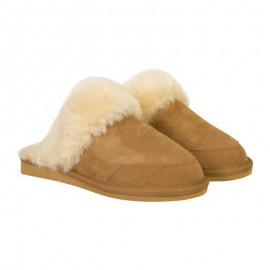 New Zealand Boots Open slipper cognac