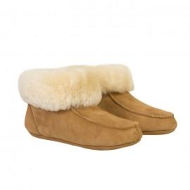 New Zealand Boots Folded slipper kids cognac