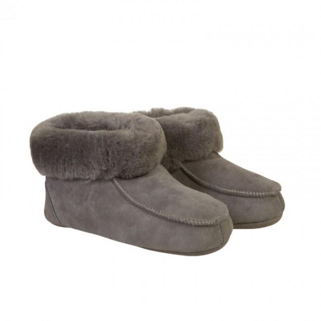 New Zealand Boots folded slipper kids grå