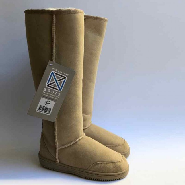New Zealand Boots Tall sand outlet 36