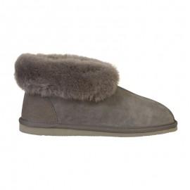 New Zealand Boots Classic slipper dark grey