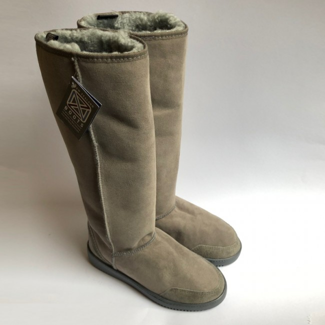 New Zealand Boots Tall Light grey outlet