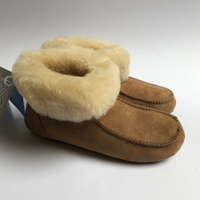 New Zealand Boots Folded slipper/house shoe cognac OUTLET