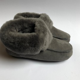 New Zealand Boots Folded slipper/house shoe grey OUTLET