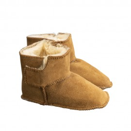 New Zealand Boots Baby slippers cognac