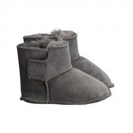 New Zealand Boots Baby slippers dark grey
