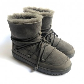 New Zealand Boots Lace boots grey outlet OUT258
