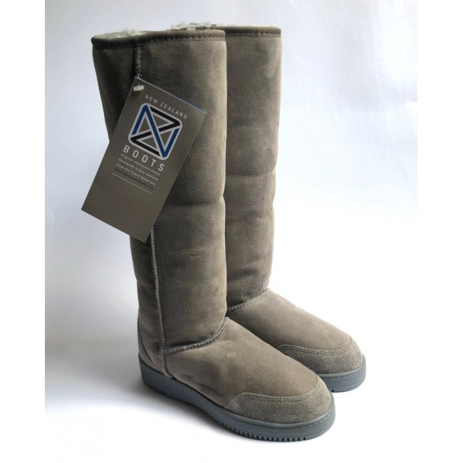 New Zealand Boots Tall light grey outlet OUT263