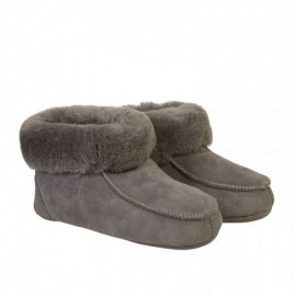 New Zealand Boots Folded slipper dark grey