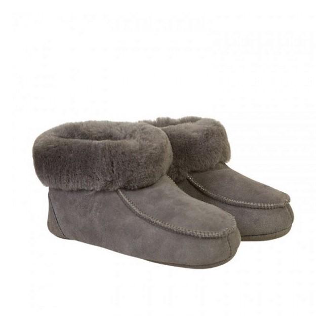 New Zealand Boots Folded slipper dark grey