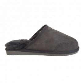 New Zealand Boots Mens open slipper dark grey